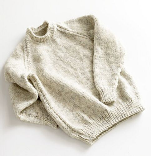 Raglan Pullover Knitting Pattern : Adult raglan sleeve pullover sweater pattern bulky yarn