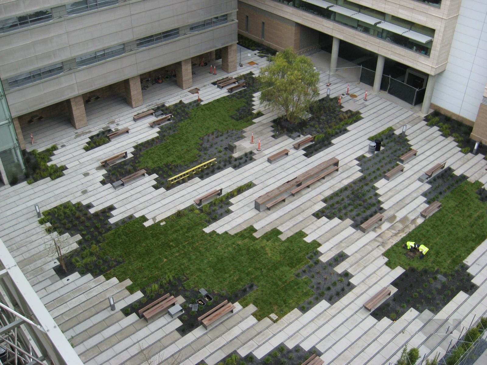 Leed stormwater credit courtyard for detention retention for Courtyard landscape design