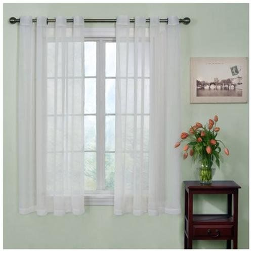 Short Grommet Curtains Panel Curtains Sheer Curtain Panels