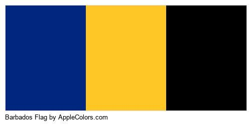 Symbol Flag Barbados Country Flags #00267f #ffc726 #000000