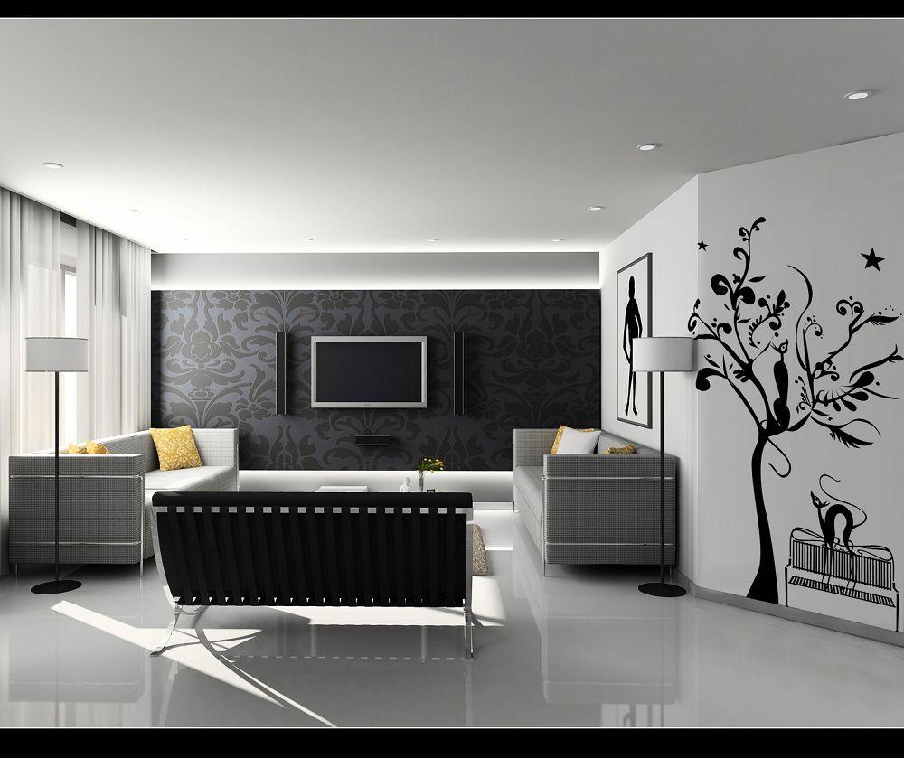 Gambar hiasan dinding ruang tamu yang unik dan lucu for Carrelage 60x60 gris brillant