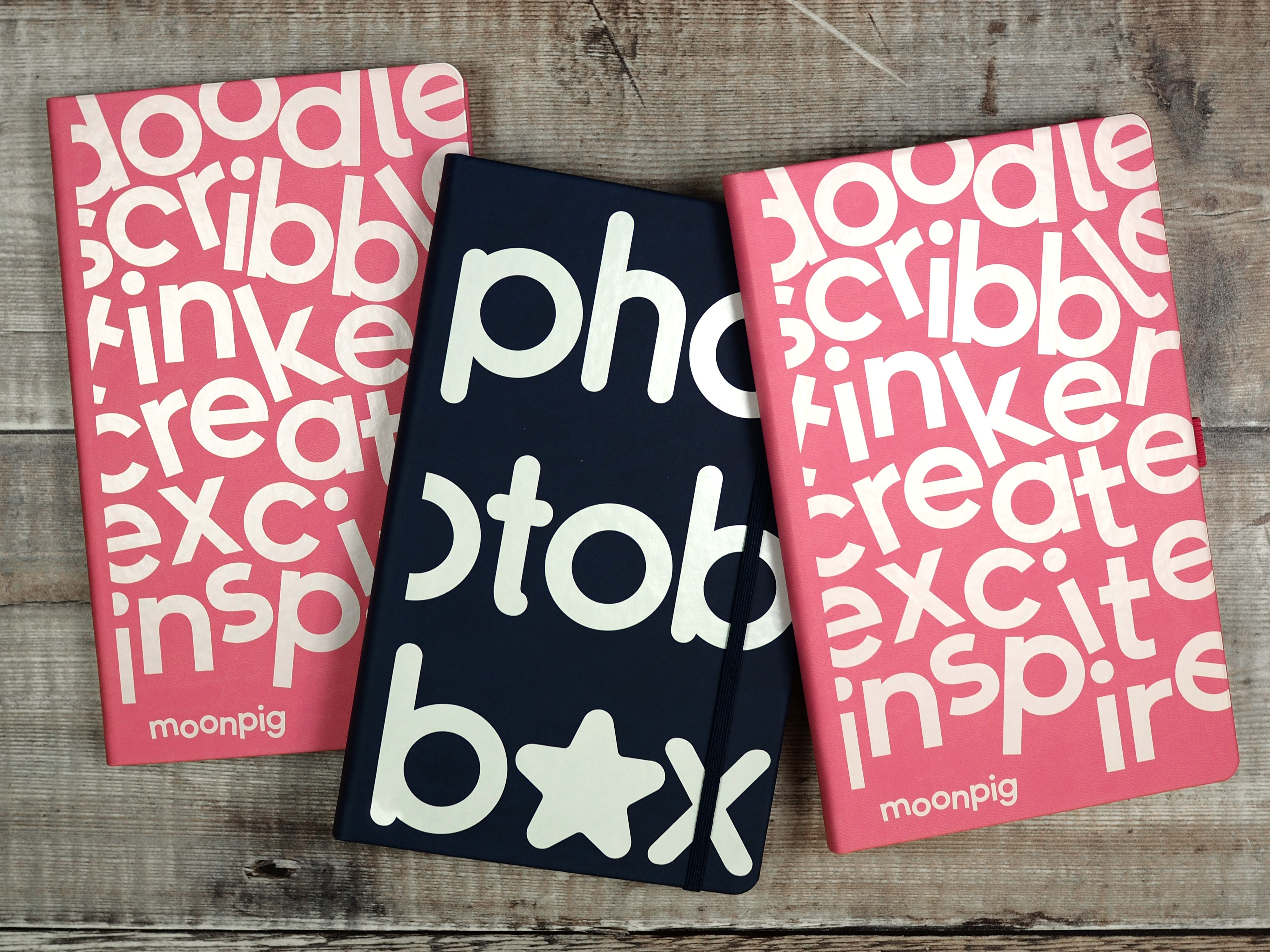 Company Notebooks For Moonpig And Photobox Produced By Noted In Style Letterhead Design Branded Notebooks Company Notebooks