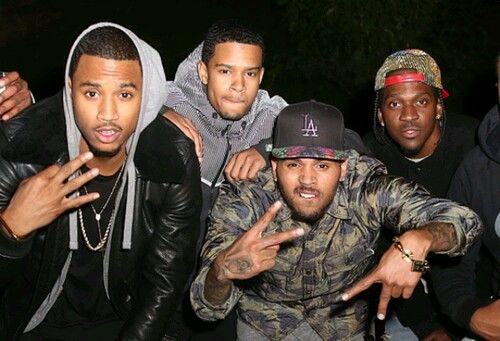 Trey Songz His Brother Forrest Chris Brown Pusha T Husbands