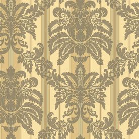 Sanitas Yellow Strippable Prepasted Classic Wallpaper