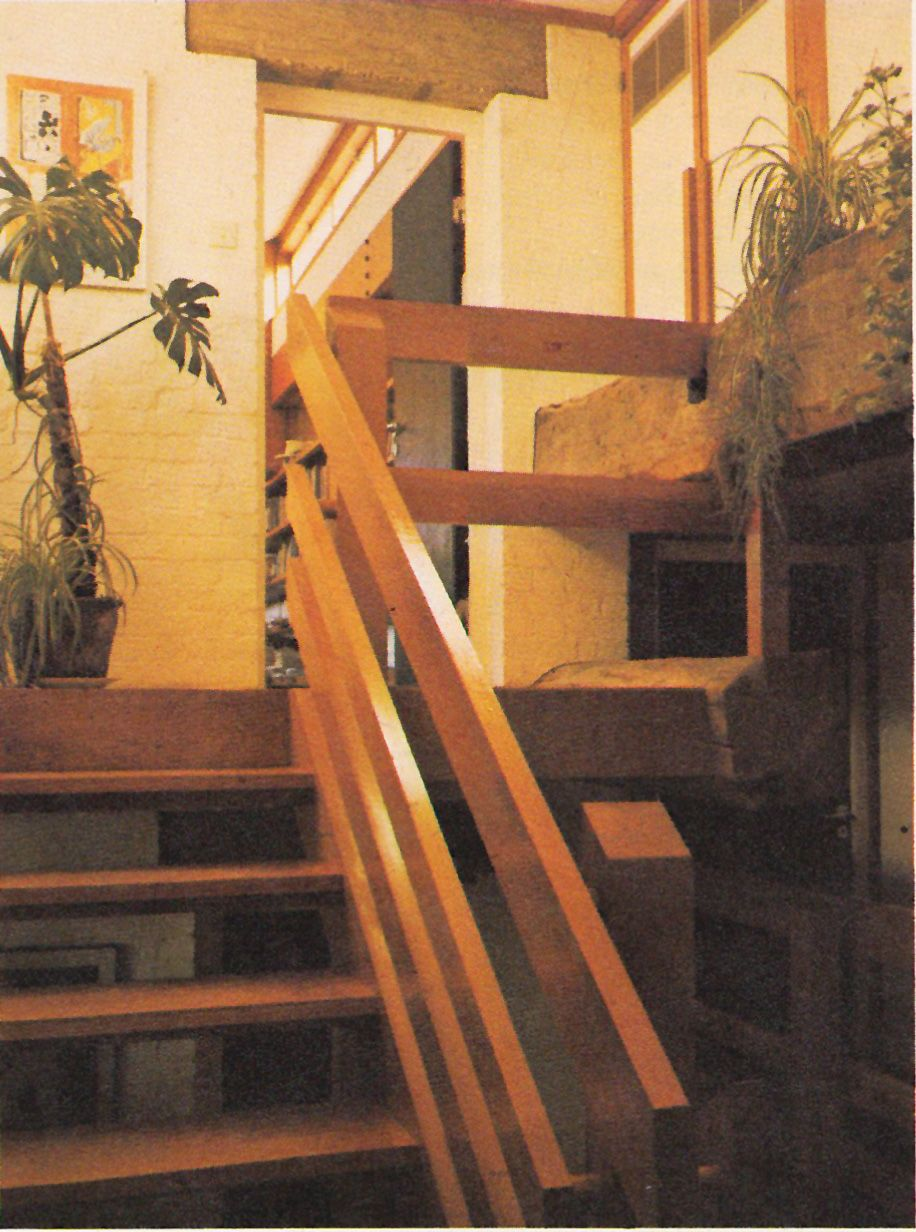 Lighting Basement Washroom Stairs: From Terence Conran's The House Book (1974) P181. Pine