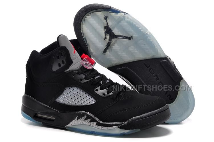huge discount 826d5 74c83 Jordan 5 Black Metallic Silver Red Men Size
