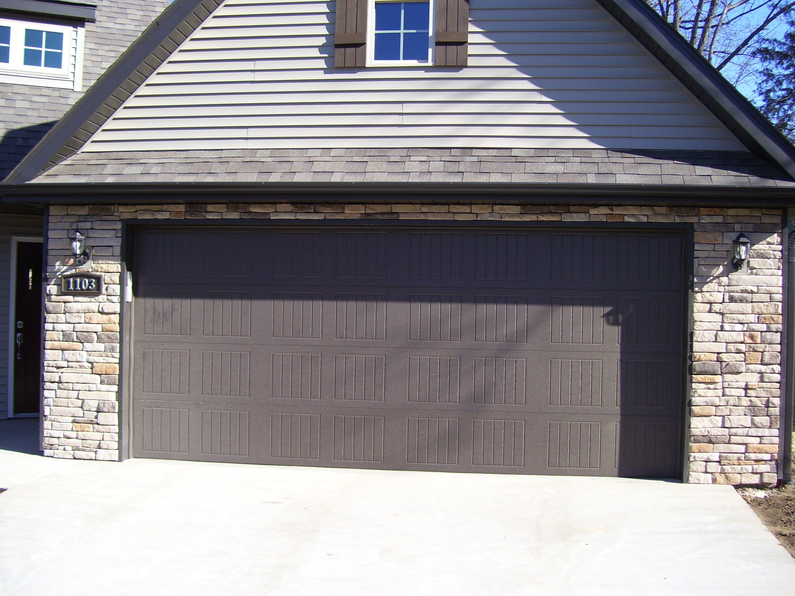 Sonoma Style Garage Doors Custom Homes By Tompkins Homes And Development Garage Doors Garage Doors Prices Garage Door Design