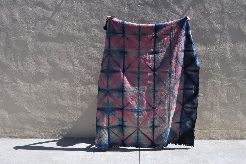 General Store | Indigo + Logwood Blanket