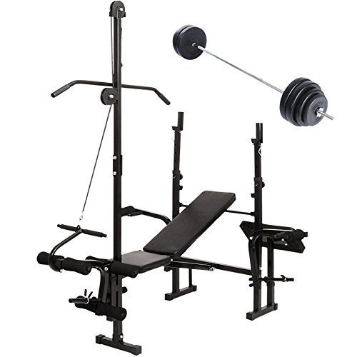 Physionics Multi Functional Weight Bench Set With Barbell And Leg Extension Adjustable Home Gym Folding Weight Bench Set Weight Benches At Home Gym