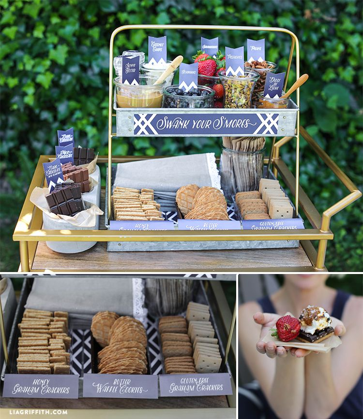 Swanky S'mores For Outdoor Entertaining