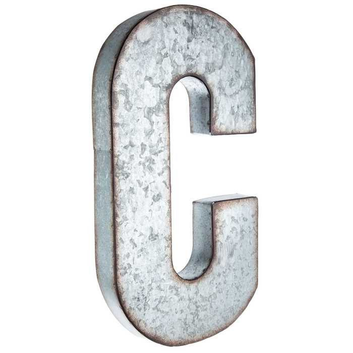 Galvanized Metal Letters Endearing C Large Galvanized Metal Letter  House Stuff  Pinterest  Metals Inspiration