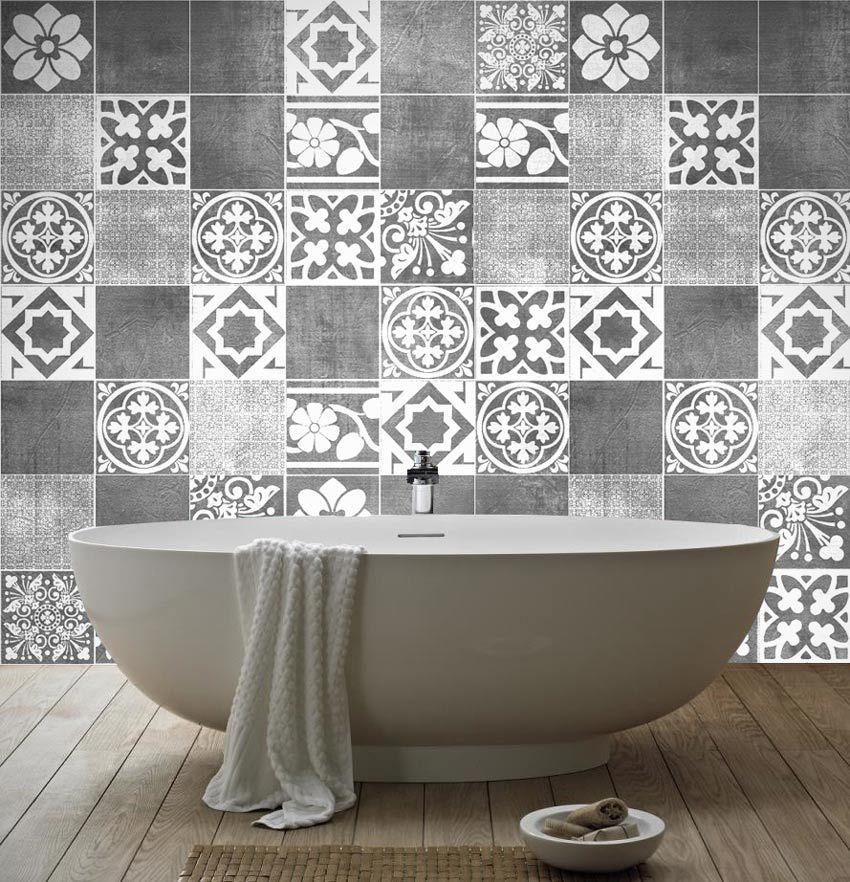 Luxury tiles stickers Tile decals Black tiles and Art tiles
