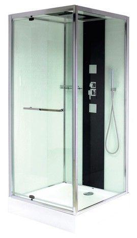 cabine de douche rectangulaire avec porte coulissante 120x80 cm - moretti