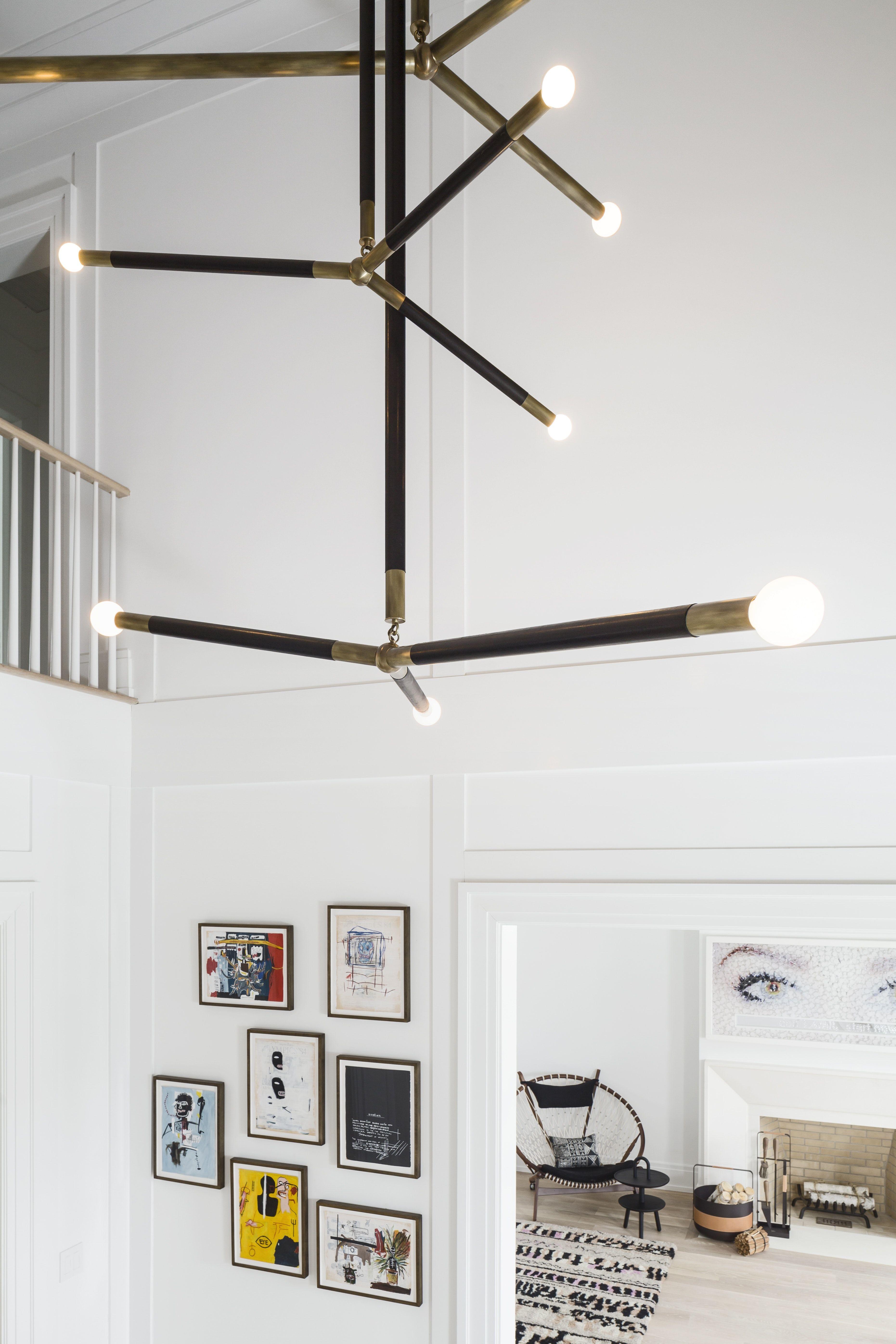 Scarsdale Home Double Height Foyer With Custom Chandelier