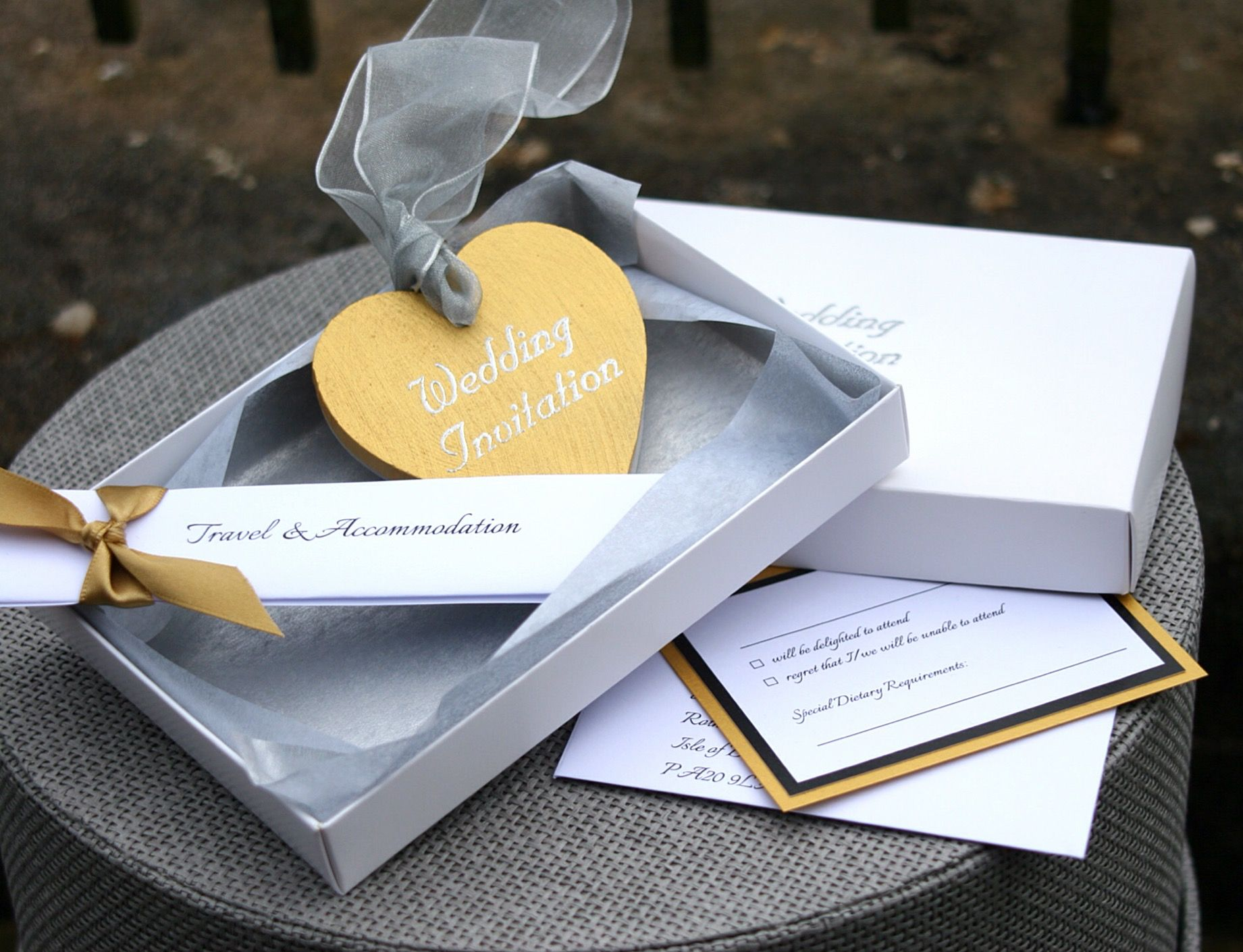 Wooden Heart Wedding Invitations by AniMac Design at www ...