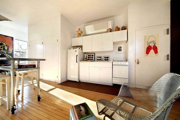 Kitchen | Cheap apartment, Manhattan studio apartments ...
