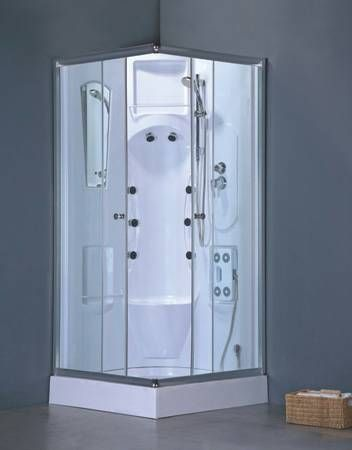 Size 38X38X82 Round Corner Shower Room (1) The whole