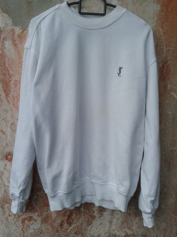 98a2db490c6 Vintage YSL Yves Saint Laurent Crew neck jumpers by sixstringent, $39.00