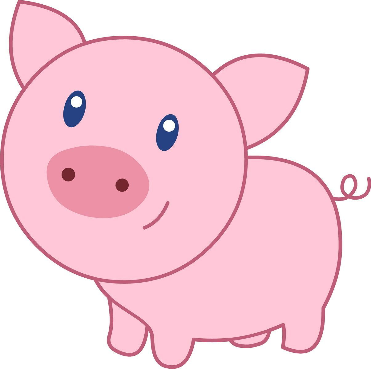cute pigs cartoon wallpaper - photo #4