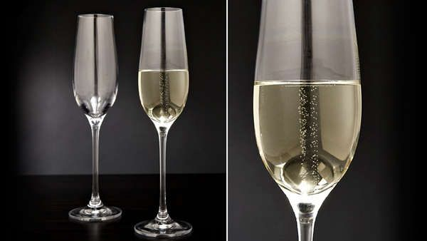 The Forever Bubbling Glasses Trick Drinkers #holiday #drinking trendhunter.com