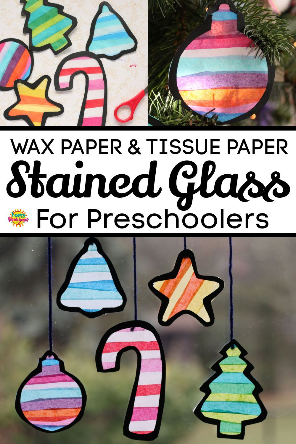 Tissue Paper Stained Glass For Preschoolers Stained Glass Crafts Stained Glass Christmas Christmas Crafts For Kids