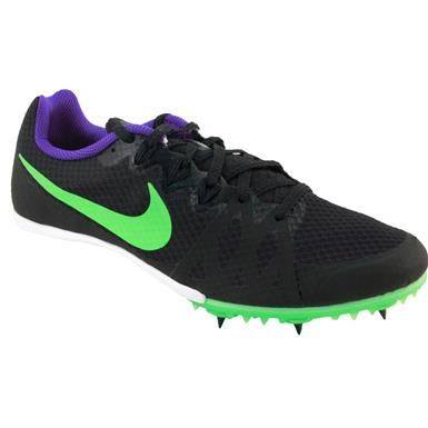 8483d9e5faa8 Nike Zoom Rival M 8 Racing Flats - Mens Black Green Strike Fierce Purple