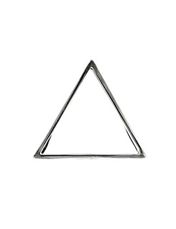 Glenda López Silver Triangle Clip - Unisex #Brooches