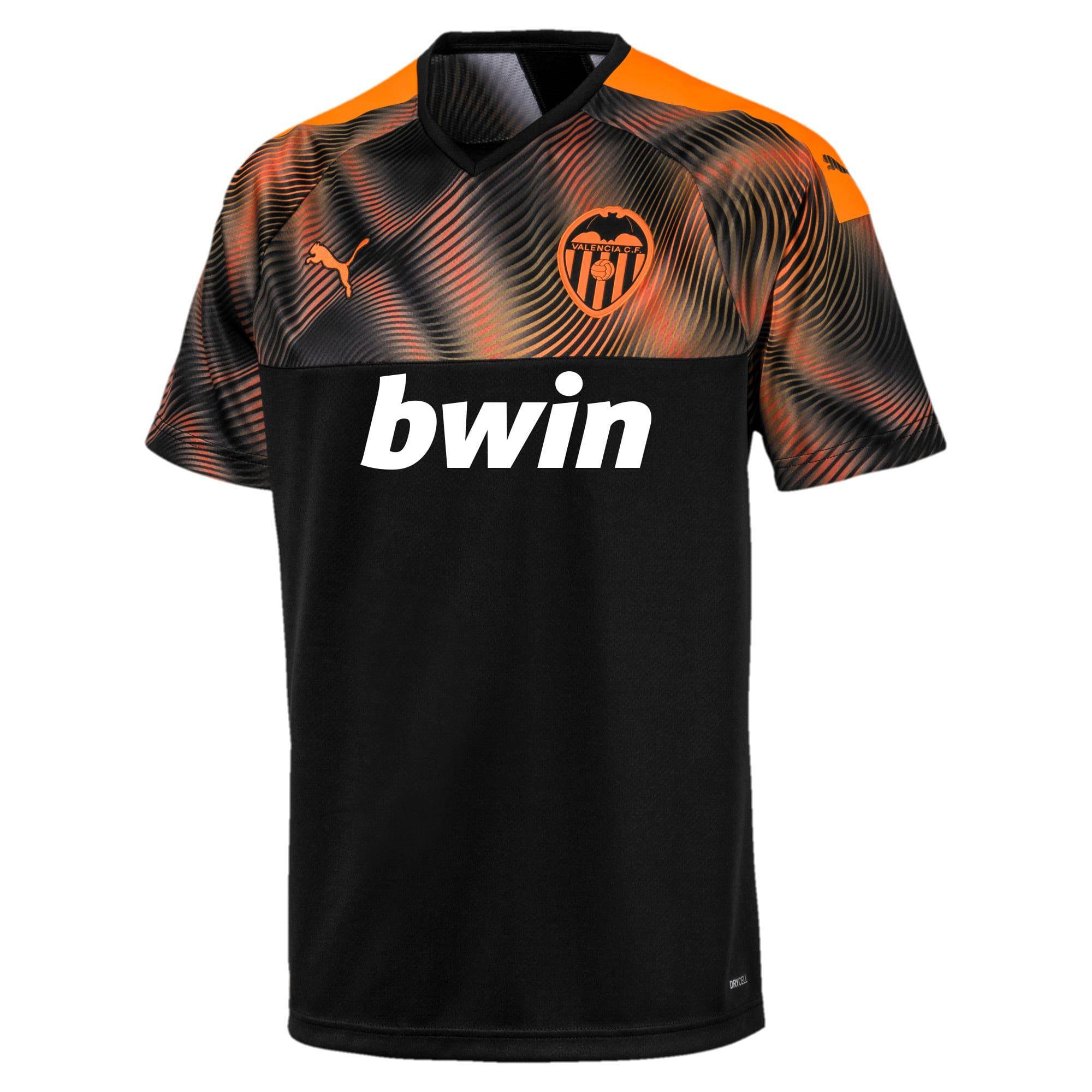 Puma Valencia Cf Men S Away Replica Jersey In Black Vibrant Orange