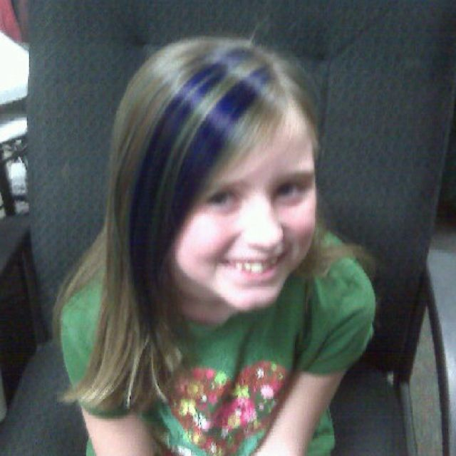 Blue Hair Streaks On My Daughter Were A Reward For Having All A S