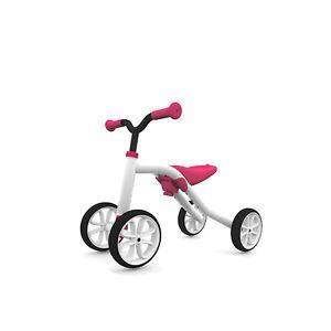 Chillafish-Quadie-Laufrad-4-Raeder-Roller-Pink-Weiss-Lauflernrad