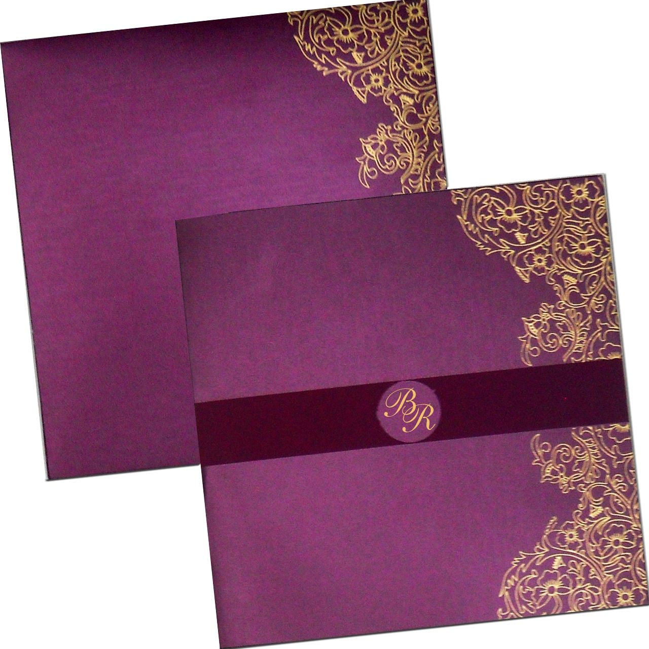 Wine Colored Paper With Beautiful Motif Highly Elegant Variant Of