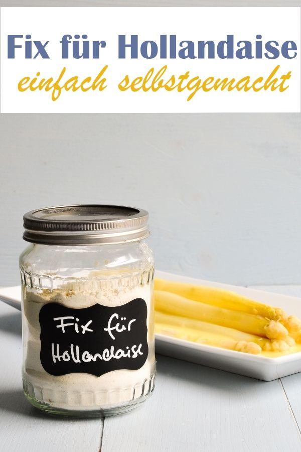 Eine Sauce Hollandaise schnell und unkompliziert selber machen mit diesem selbstgemachten Fix für Hollandaise Soßenpulver. Diese Fertigmischung ist wie die von Maggi und Knorr, aber mit bekannten und unbedenklichen Zutaten. Vegan möglich, ohne Ei. #hollandaisesauce