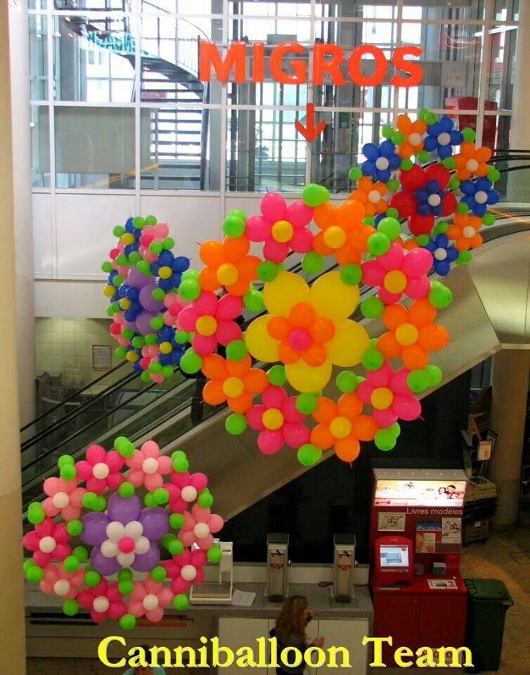 Big flowers for a big space decoracion Pinterest Globo