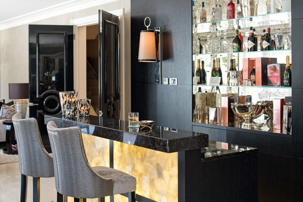 The Bar Area Set Within The Open Plan Living Space Small Bars For Home Interior Design Companies Small Home Bar Ideas