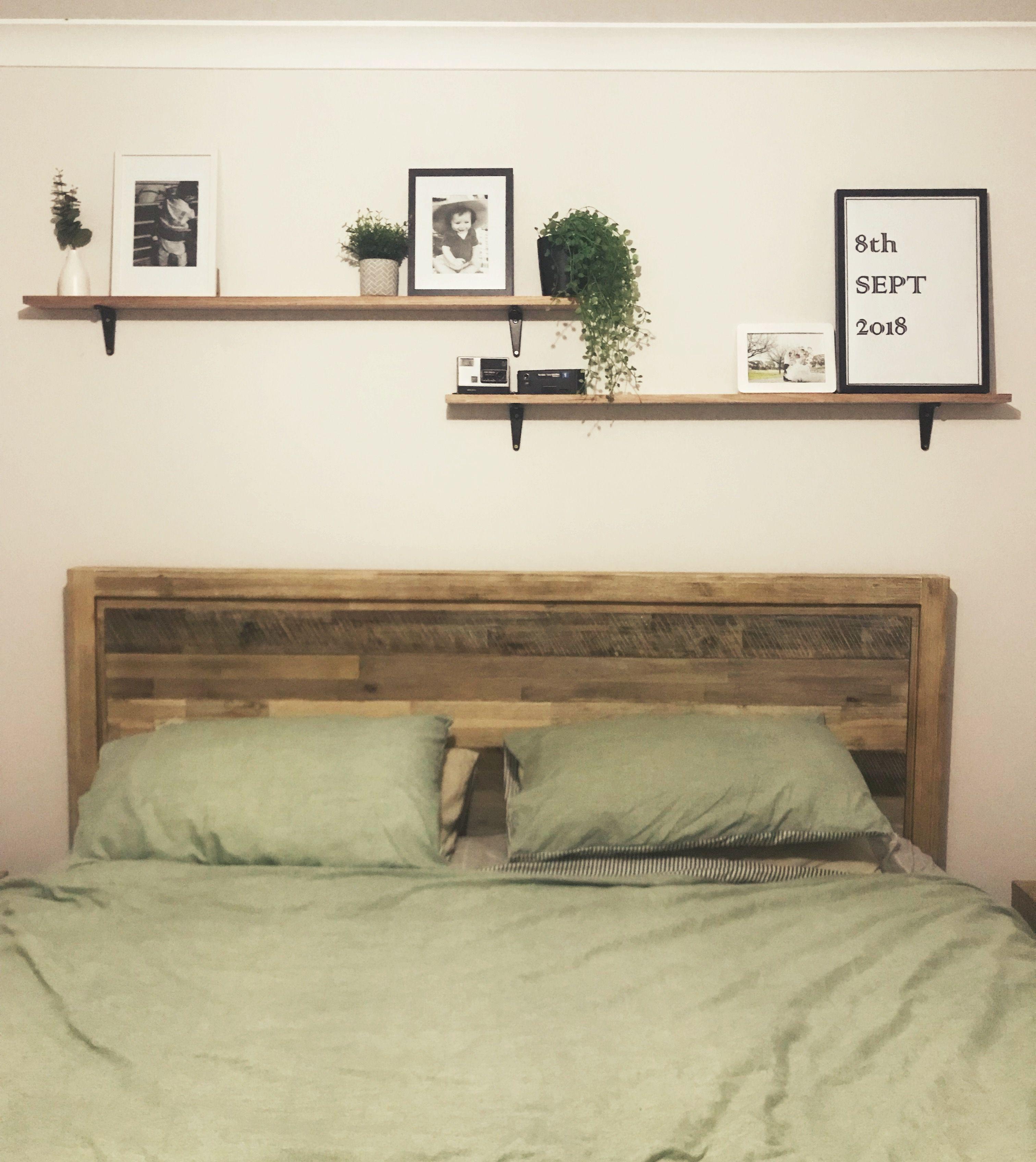 Diy Above Bed Shelves Above Bed Decor Bed Shelves Shelves In Bedroom