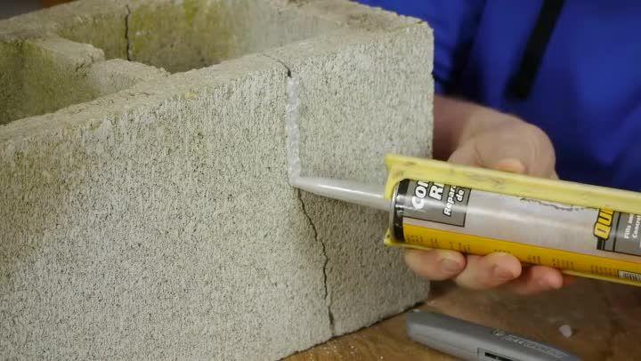 How To Fix Cracks In Cement Block With Polyurethane Caulk Ehow Cinder Block Walls Cement Blocks Polyurethane Caulk