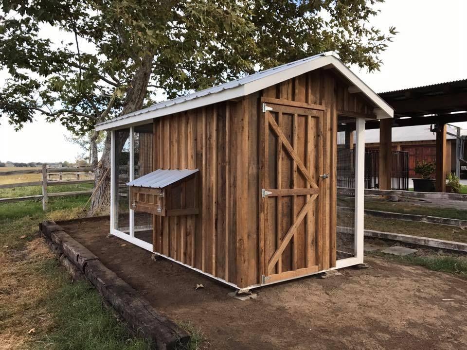 200-year-old reclaimed barn wood custom Carolina Coop ...