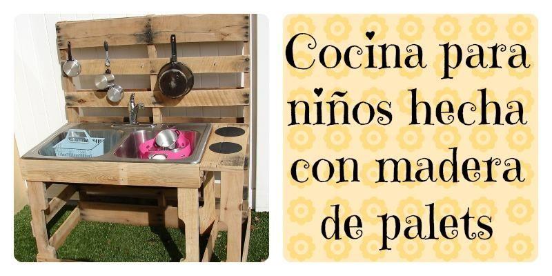 Cocinas para niños hechas con palets. ¡Les encantará! | Casas de ...