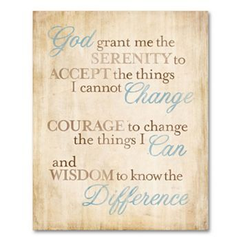 Serenity Prayer Canvas Wall Art | For the Home | Pinterest ...