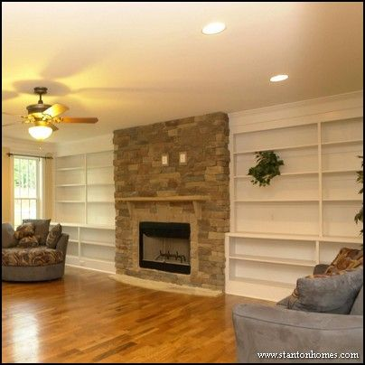 fireplacehearthstorage full wall of built in bookcases gives