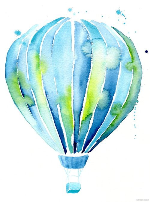 Colorful And Joyful Balloons Look Up There Their Passengers In A