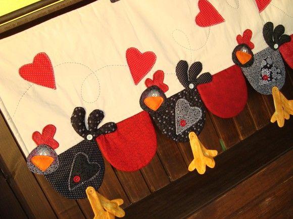 Bando para cortina - Galinhas