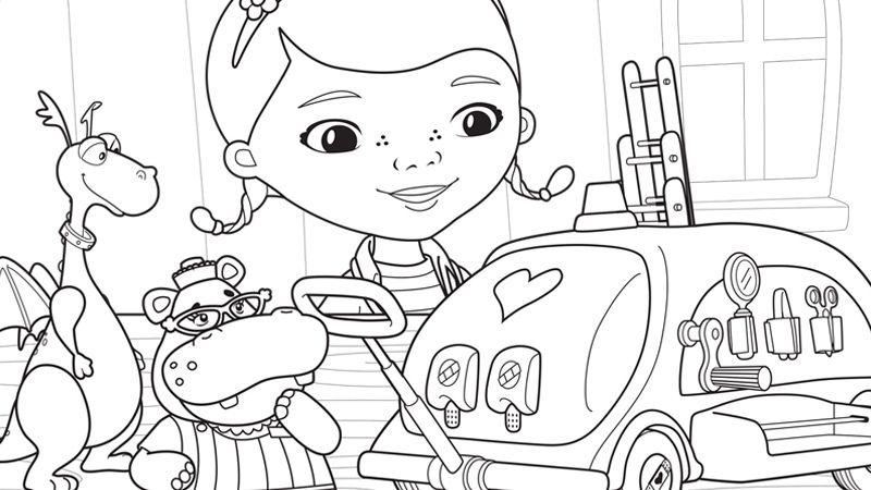 Coloring Pages | Disney Junior | Emma | Pinterest