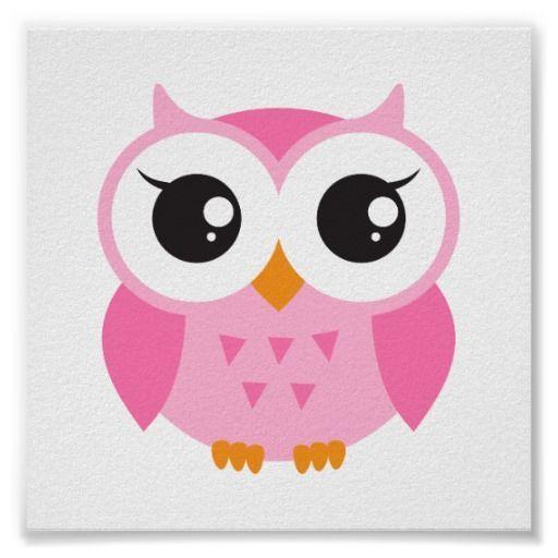 Http Rlv Zcache Com Buho Rosado Lindo Del Bebe Del Dibujo Animado Poster R3325b7edbb4c41bd9e479ae1c97203b4 W89 8byvr 5 Baby Owls Owl Baby Shower Owl Stickers