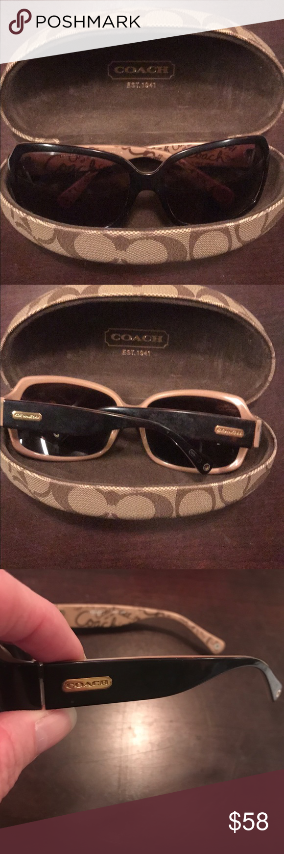 acfc926634c00 Coach Ginger Sunglasses Coach Ginger Tortoise Sunglasses (S496) with case.  Some scratches on