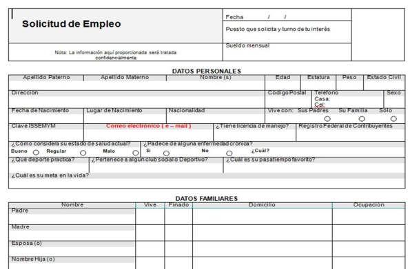 Formato De Solicitud De Empleo Solicitud De Empleo Carta De Solicitud De Empleo Carta De Solicitud