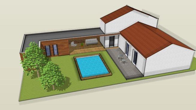 projet dextension de maison en gironde 3d warehouse - Construction De Maison En 3d