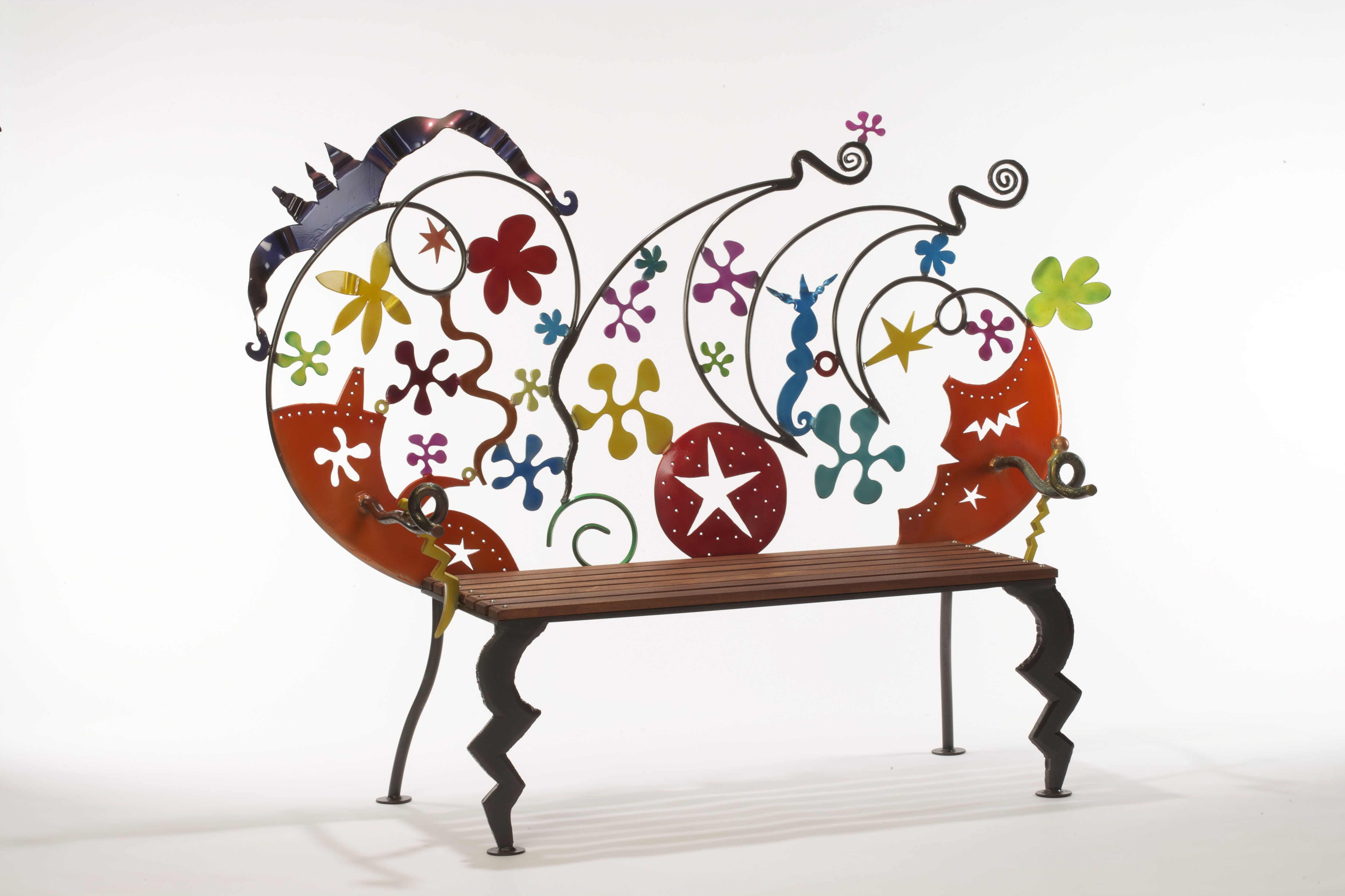Garden Bench Made By My Brother, Artist Paul Knoblauch, In Rochester, New  York