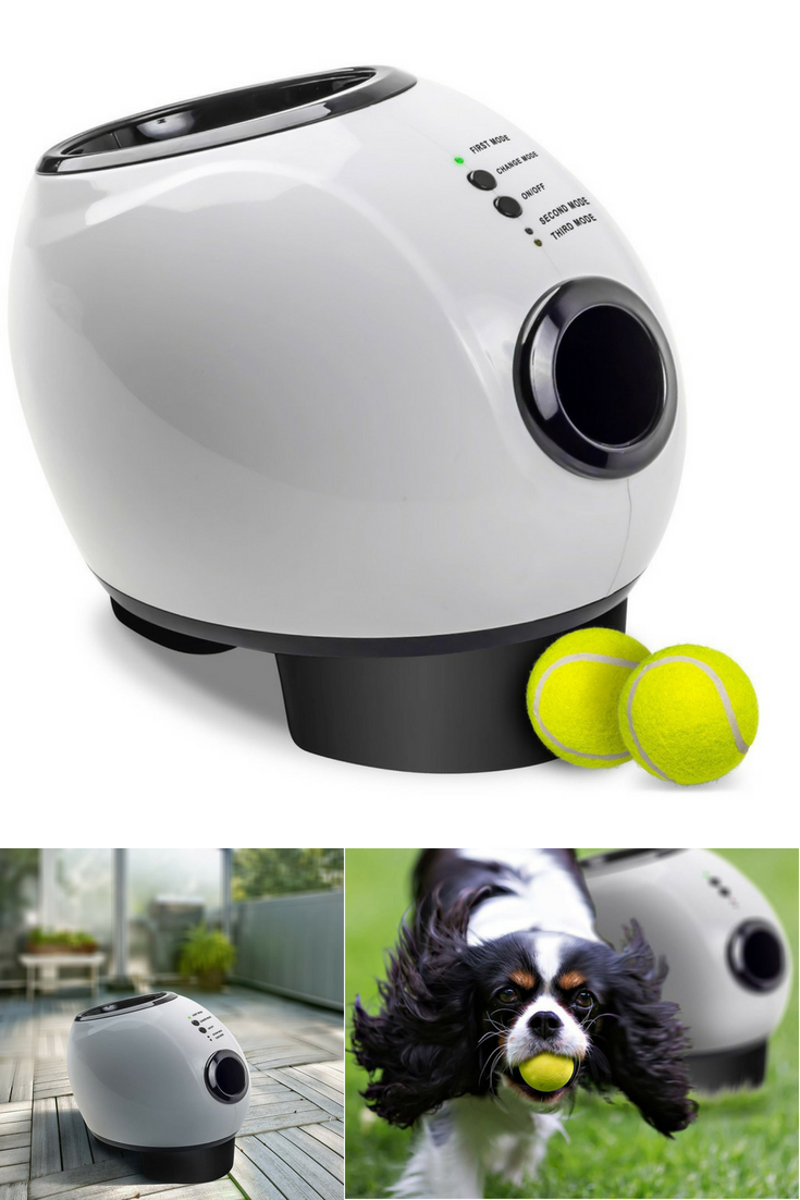 Aws Pals Automatic Dog Ball Launcher Toy Interactive Throw And Fetch Mini Tennis