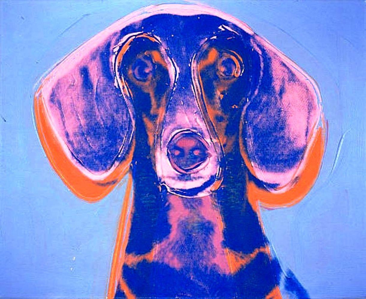 Screenprint of Maurice, dog of  Gabrielle Keiller, Andy Warhol, Dachshund portrait